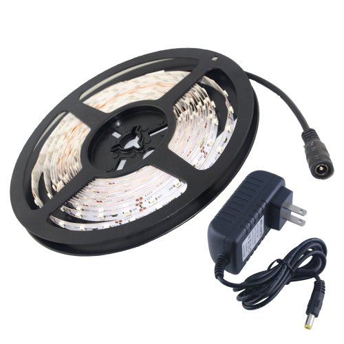 Thg Decorative 3528 Smd 16.4 Ft Switchback Red 300 Led Strip Lights For Hotels Clubs Shopping Malls Restuartant Coffee Shop With 2A Power Supply Adapter