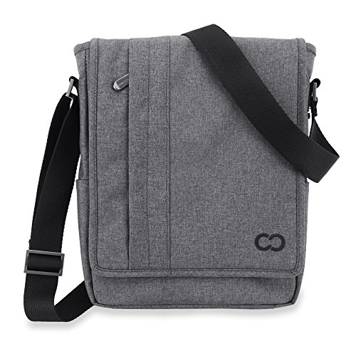 05. 12 Inch MacBook Bag, CaseCrown Campus North Messenger Bag (Charcoal Gray)