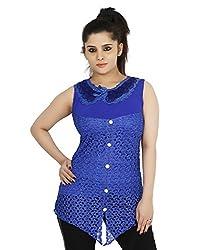 Sringar Women's Top (As3105_L_Blue_X-Large)