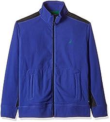 Nautica Men's Synthetic Sweatshirt (8907036264401_NTK3446140X_X-Large_Blue Stone)
