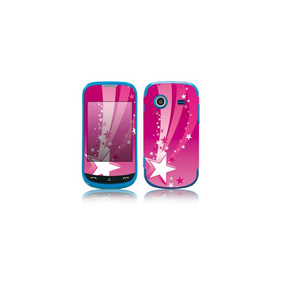 Pink Stars Decorative Skin Cover Decal Sticker for Samsung Character SCH R640 Cell Phone