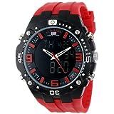 Reloj U.S. Polo Assn. Sport US9173, para hombre, analogo digital, pulsera de silicona roja.