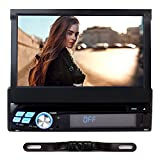 7-Android-51-1-DIN-Autoradio-RNS-NAVISKAUTO-Auto-Navi-GPS-CDDVD-Player-Quad-Core-Digital-Touchscreen-Universal-Navigation-Radio-AMFM-USB-Port-Micro-SD-Slot-Bluetooth-Built-In-WIFILenkradsteuerungRckfa