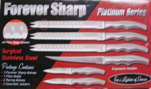 Platinum Series Surgical Stainless Steel 6Pc Knives Set