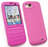 FLASH SUPERSTORE NOKIA C3-01 LCD SCREEN PROTECTOR AND SILICON CASE/COVER/SKIN HOT PINK