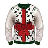 Forum Novelties Adult Extra Large All Wrapped Up White Ugly Christmas Sweater, Multi, X-Large