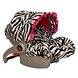 Baby Bella Maya Infant Car Seat Cover Zoe Zebra