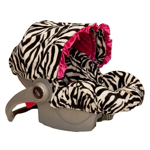 Baby Bella Maya ISC001Z Infant Car Seat Cover Zoe Zebra - 1