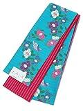 (キスミス)Xmiss半幅帯浴衣帯水色オウムと花×ピンクストライプ
