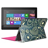 Aquarius® Superior Luxury Fine Touch Latest Trendy Designer Back PU Leather Soft Skin Cover Sticker for Microsoft Surface RT (Green)