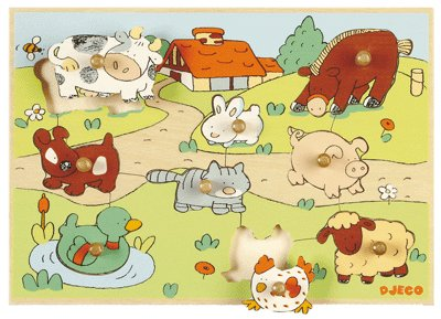 Picture of Djeco Pasture (B000H3GNFQ) (Pegged Puzzles)