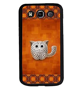 Fuson 2D Printed Cat Designer back case cover for Samsung Galaxy E7 - D4153