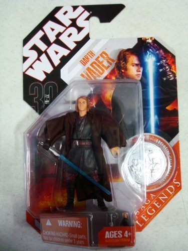Star Wars 30th Anniversary Saga Legends DARTH VADER Anakin Skywalker w/ coin