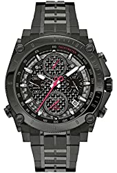 Bulova Mens 98B257 Precisionist Carbon Fiber Dial Stainless Watch 98b229 smaller version