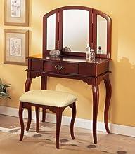 William's Home Furnishing Cherry Tri-mirror Vanity
