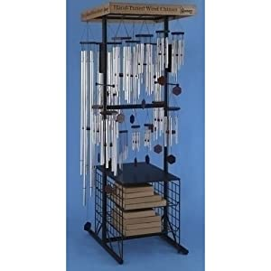 Club Pack of 40 Garden Wind Chimes with Retail Floor Display Rack