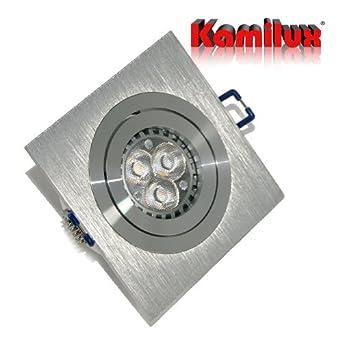 4 x power led einbaustrahler spot kanto 1er quadratisch inkl gu10 fassung 230v power led 5watt. Black Bedroom Furniture Sets. Home Design Ideas