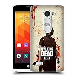 Official AMC The Walking Dead Rick Distressed Illustrations Hard Back Case for LG Leon / H340N