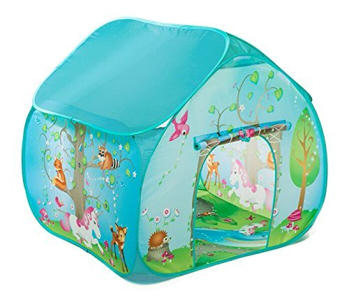 Childrens Pop Up Play Tent Designed like an Enchanted Forest with a Unique Printed Play Floor : Girls Toy Play Tent / Playhouse / Den by Pop It Up