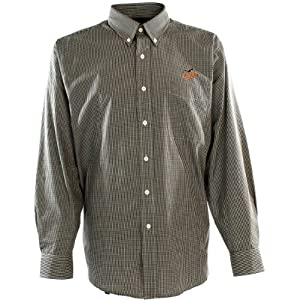 Antigua Mens Baltimore Orioles Focus Cotton Polyester Woven Mini Check Button D by Antigua