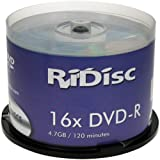 Ridisc DVD-R, 16x, 4.7GB, 50 Pack