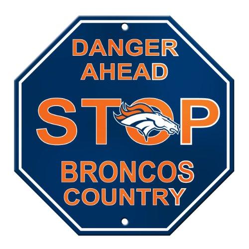 NFL Denver Broncos Stop Sign