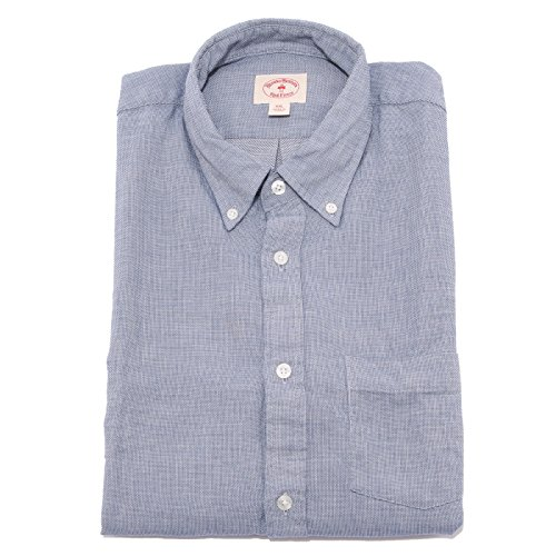 7371Q camicia uomo BROOKS BROTHERS button-down blu shirt man [XXL]