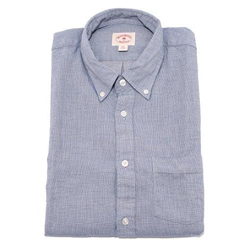 7371Q camicia uomo BROOKS BROTHERS button-down blu shirt man [XXL]