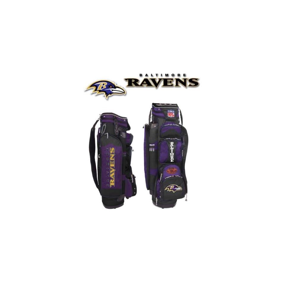 Baltimore Ravens Golf Cart Bag Memorabilia.