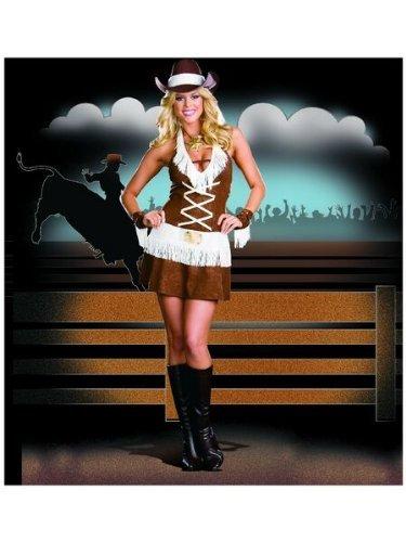 [Dreamgirl Women's Howdy Partner Costume,Brown,Medium] (Howdy Partner Halloween Costume)