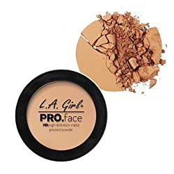 L A Girl HD Pro Face Pressed Powder, Medium Beige, 7g