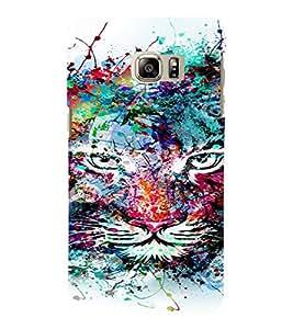 PrintVisa Modern Art Colorful Lion 3D Hard Polycarbonate Designer Back Case Cover for SAMSUNG GALAXY NOTE 6