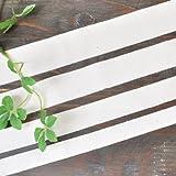 綿100%平織りテープミックス4サイズ各10ヤード合計40ヤード ナチュラル感のある紐(ひも)としてお使いください