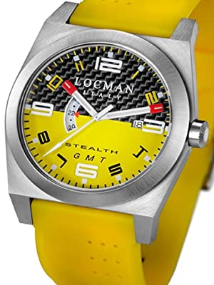 Locman Mens Stealth Watch Yellow 200CRBYLYL