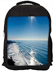 "Snoogg Sun View In The Beach View Casual Laptop Backpak Fits All 15 - 15.6"" Inch Laptops"