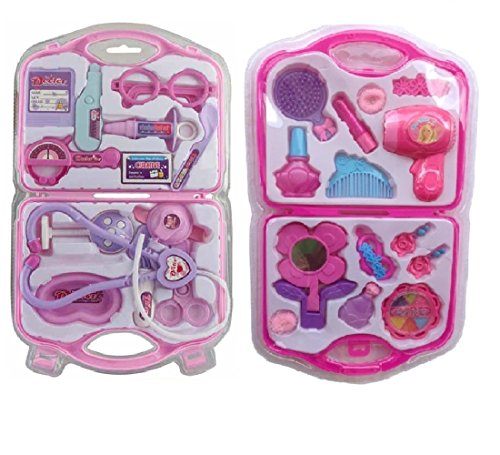 Doctor Play Set With Fashion Beauty Set For Kids