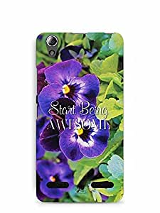 YuBingo Start Being Awesome Designer Mobile Case Back Cover for Lenovo A6000