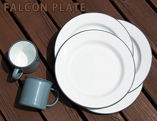ファルコン琺瑯プレート 24センチ皿 グレー4枚セット