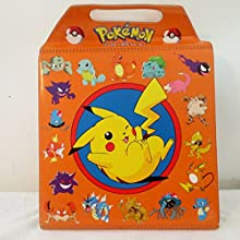 Rare Pokemon Pikacho Case Holding 4 VHS Tapes-1998 Viz Video Official Licensed Nintendo Product Case