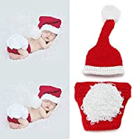 yazi Santa Claus Crochet Knitted Outfit Newborn Unisex Baby Costume Photography Prop Christmas Gift by Happyness2014