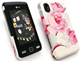 EMARTBUY LG KP500 COOKIE TEXTURED BLOSSOMED PINK CLIP ON PROTECTION CASE/COVER/SKIN + SCREEN PROTECTOR