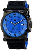 Swiss Legend Men's 40030-BB-03 Sportiva Blue Textured Dial Black and Royal Blue Silicone Watch by Swiss Legend