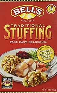 Amazon.com : Bell's Traditional Ready Mixed Stuffing 6 Oz (Pack of 3