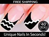 Chevron Nail Stickers - Chevron Nail Art (Classic White)