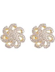 Vanshika Jewels Gold Alloy Stud Earrings For Women (VJ022)