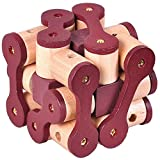 KINGOU( キングオウ)知恵の輪 難易度高め 木製パズル 知的玩具 孔明パズル 3D木チェーン