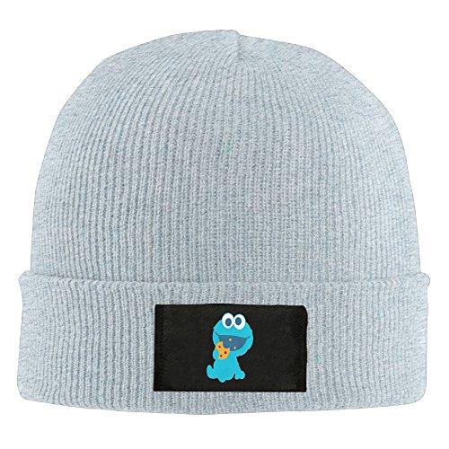 Cookie Monster Eating Cookie Men Beanie Hat Knit Caps