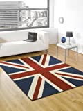 Very Large Buckingham Great Britain Flag Union Jack Design Blue Red White Rug 5'3'' x 7'4'' (160 x 225 cm) Carpet