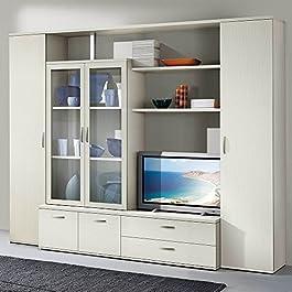 Set Soggiorno 2 colonne vetrina libreria arredamento design casa mobile S6053BF