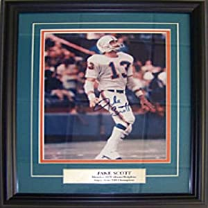 Jake Scott Autographed Signed Framed 8x10 Miami Dolphins Photo by Hollywood Collectibles